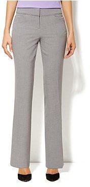 New York & Co. Curvy Straight Leg Pant - Double Stretch - Heather Grey