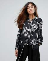 Vero Moda Floral Shirt With Fluted Cuffs