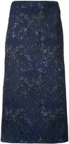 Rochas floral pencil skirt - women - Acrylic/Polyester/Acetate - 38