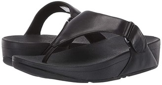 FitFlop Sarna Toe Thong Sandal (All Black) Women's Shoes