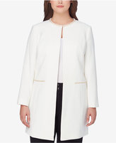 Tahari ASL Plus Size Embellished Topper Jacket
