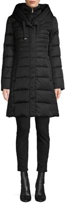 Tahari Zip-Up Bib Down Puffer Jacket
