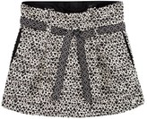 Ikks Black and White Jacquard Skirt