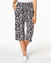 Karen Scott Cotton Printed Capri Pants, Only at Macy's