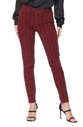 Paige Hoxton Tartan Plaid High Waist Ultra Skinny Jeans
