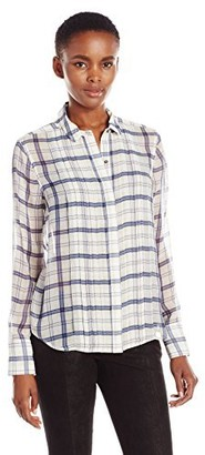 ATM Anthony Thomas Melillo Women's Pleat Front Blouse