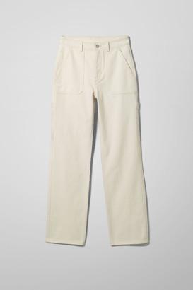 Weekday Carrie Denim Trousers - Beige
