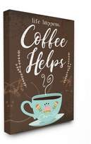 Secret Treasures The Stupell Home Decor Collection Life Happens Coffee Helps Cup Chalkboard Look Stretched Canvas Wall Art, 16 x 1.5 x 20