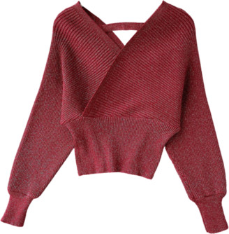 Goodnight Macaroon 'Sammi' Wrap Knitted Sweater (6 Colors)
