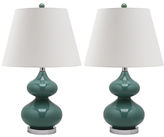 Safavieh Eva Gourd Glass Table Lamps (Set of 2)