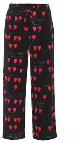 Alexander McQueen Printed silk trousers