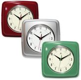 Infinity Instruments 9-Inch Square Retro Wall Clock