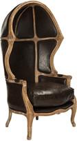 Safavieh Sabine Brown Leather Balloon Chair