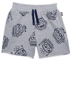 Splendid Baby Boy's Robot-Print Cotton-Blend Shorts