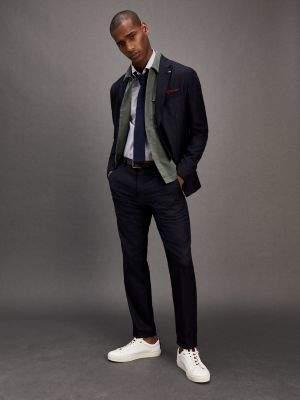 Tommy Hilfiger Check Wool Blend Slim Fit Suit