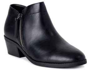 Time and Tru Zipper Bootie (Women's) (Wide Width Available)