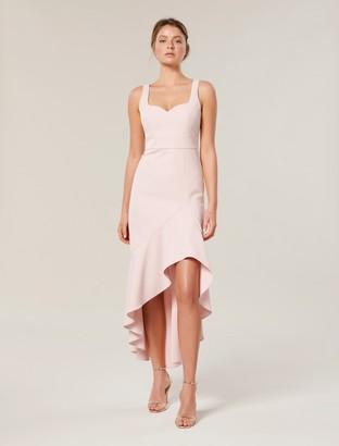 Forever New Suki Sweetheart Asymmetrical Maxi Dress - Cosmetic Nude - 8