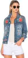 Blank NYC BLANKNYC Embroidered Denim Jacket