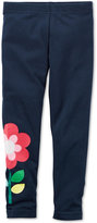 Carter's Flower-Print Leggings, Little Girls (2-6X)
