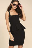 LuLu*s One More Kiss Black Peplum Dress