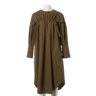 Rejina Pyo X Vestiaire Collective Khaki Cotton Dresses