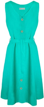 Aphrodite Buttoned Dress Green