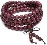 Top Plaza Unisex 108 Natural Wood 6mm 8mm Beads Bracelet Buddhist Rosary Mala Necklace