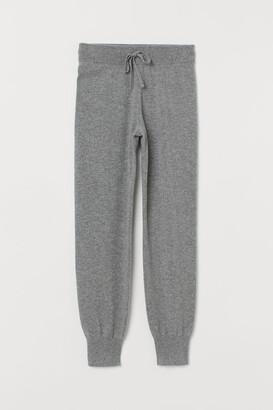 H&M Fine-knit Cashmere Joggers - Gray