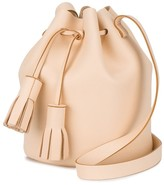 Peach tassel leather bucket bag - Nude & Neutrals Building Block SdfrS