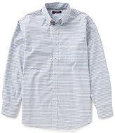 Roundtree & Yorke Long-Sleeve Trademark Multi Horizontal Stripe Sport Shirt