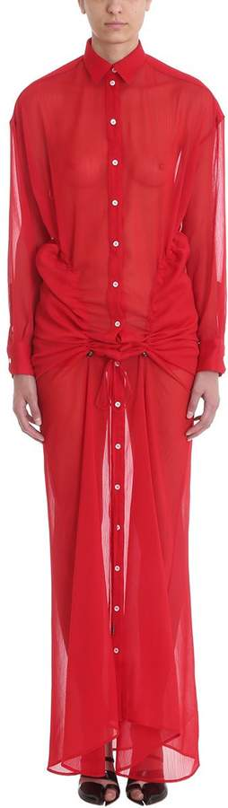 Y/Project Gathered Maxi Shirt Dress