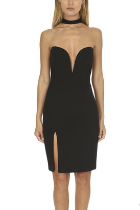Mason by Michelle Mason Strapless Choker Dress