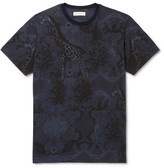 Etro Slim-fit Printed Cotton-jersey T-shirt - Blue
