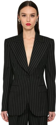 Dolce & Gabbana Pin Striped Wool Jacket