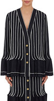 Thom Browne Women's Wool-Mohair Pleated Jacket-NAVY