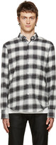 Naked & Famous Denim Grey Flannel Plaid Shirt
