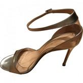 Gianvito Rossi Plexi Metallic Leather Heels