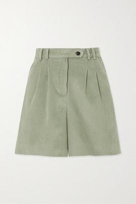 Frankie Shop Gala Cotton-corduroy Shorts - Mint