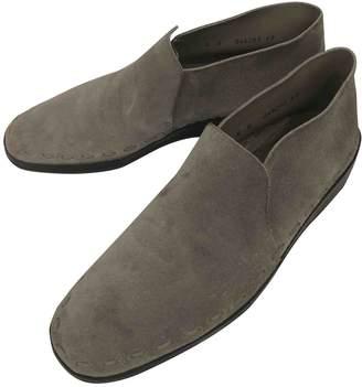 Bally Grey Suede Flats