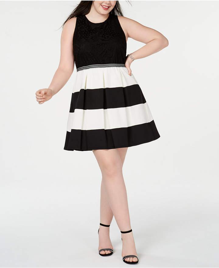 3d68ea2c4f6 Plus Size Fit And Flare Dress - ShopStyle