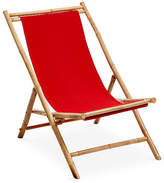 One Kings Lane Bamboo Lounge Chair - Red