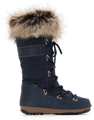 Moon Boot Monaco Boots with Faux Fur Lining