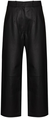 ENVELOPE1976 Wide-Leg Leather Trousers