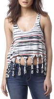 Buffalo David Bitton Tassletess Fringe Tank Top