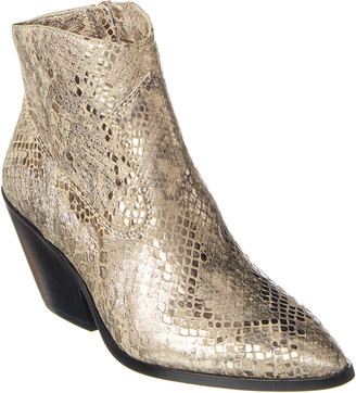 Vince Camuto Jemeila Python-Embossed Leather Bootie