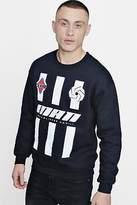 boohoo NEW Mens MAN Stripe Sweater in Black size L