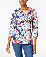 Alfred Dunner Uptown Girl Floral-Print Top