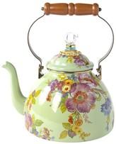 Mackenzie Childs MacKenzie-Childs - Flower Market Enamel Tea Kettle - Green - Large
