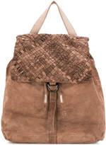 Eleventy weave-detail backpack