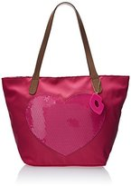 Betsey Johnson LUV BETSEY by Sequin Heart Tote Shoulder Bag